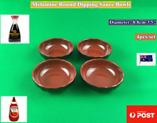 "NEW Melamine Round Dipping Sauce Bowls Dishes 3.5"" (4PCS) Red & Black (B138)"