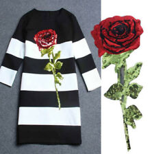 Sequin Patch Rose Lips Robot Art Sew on Patch DIY T-shirt Clothes Emblems Badges