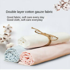 Soft Solid Cotton Gauze Fabric Double Layer Cloth DIY Sewing Making 100cm*145cm