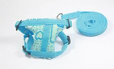 Blue Leashes lead pet soft harness small pet guinea rat Hamster Ferret leveret