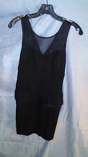 Costa Blanca Fitted Stretch Mini Black & Shear Dress sz Medium NWT