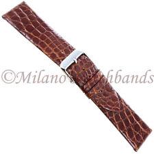 22mm deBeer Prestige Collection Genuine Crocodile Havana Unstitched Watch Band