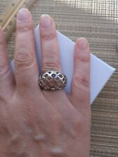 COACH Logo Dome Ring, Sterling