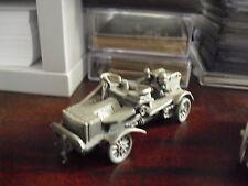 Franklin Mint Pewter Old Fashion Firetruck Car Look