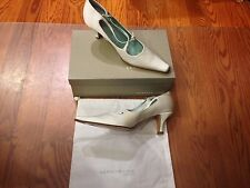 Kenneth Cole Cross Ur Heart White Heels Shoes Closed Toe Pumps ~ Sz 6.5  NIB