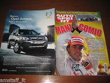 AUTOSPRINT 2007/37=GP F1 D'ITALIA=ALONSO=TROFEO RALLY SILVA=PUBBLICITA' OPEL ANT