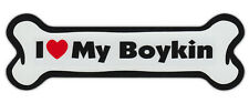 Dog Bone Shaped Car Magnets: I Love My Boykin Spaniel