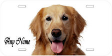 Golden Retriever Personalized Any Name Novelty Car License Plate A1