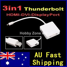 3in1 Thunderbolt Port to HDMI DVI Display Port Adapter For iMac MacBook Pro Air