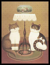 088-MSA Charles Wysocki CAT KITTEN Blank Greeting Note Card NEW
