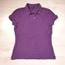 Ladies TOMMY HILFIGER Purple Vintage Designer Polo Shirt T-Shirt Medium #F2396