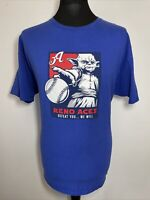 Champion Reno Aces Yoda Star Wars Mash Up Baseball Blue Cotton T Shirt Tee XL