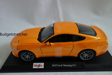 MAISTO 1:18 Scale - 2015 Diecast Model Car - Ford Mustang GT - Orange