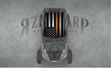 2 SEAT POLARIS RZR CAN-AM ORANGE LINE UNIVERSAL ROOF WRAP STICKER GRAPHIC DECAL