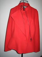 A LOVELY STYLISH RED PER UNA  WOMENS JACKET  SIZE 14 LENGTH APPROX 24 INCHES