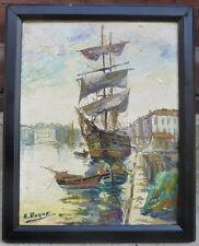 Voilier au port de Honoré ROQUE 1874-1955