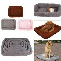 Pet Puppy Bed Cushion Mat Pad Dog Cat Cage Kennel Crate Warm Cozy House Blanket