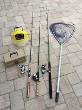 FISHING GEAR COMBO🔥LOCAL PICK UP ONLY🔥RODS REELS TACKLE BOXNET BAIT BUCKET