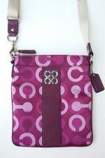 Coach Julia Op Art Swingpack Plum Multi No 44173