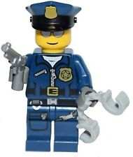 ☀️NEW LEGO Collectible Minifigure Police Officer Cop Handcuffs Gun Minifig