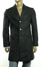 New Men Hugo Boss Migor 2 Virgin Wool Blend Charcoal Cheked Over Coat 42 R 52 EU