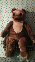 "IKEA Vandring Bjorn Large Teddy Bear Stuffed Ours brun Plush 27"" Brown Black Tan"