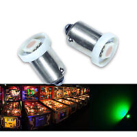 PA 30x #1893 #44 #47 #1847 BA9S 1 SMD LED Pinball Machine Light Bulb Green 6.3V