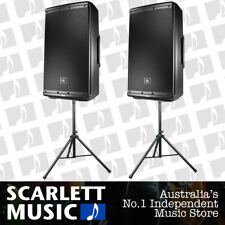 2x JBL EON 612 Powered Speaker 12 Inch 12'' 1000W EON612 - w/ Speaker Stands.