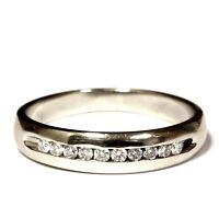 14k white gold .30ct SI1 H round diamond mens wedding band 4.7g gents