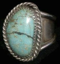 Vintage Sterling Silver Southwest Tribal Ring Turquoise Size 10.25 10.2g