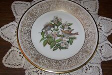 Lenox - Boehm Birds Plate 1970 - Wood Thrush - Exceptional Condition (no box)