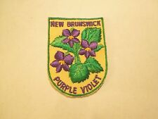 Vintage New Brunswick Canada Provincial Flower Purple Violet Sew On Patch