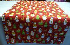 Tischläufer Tischdecke Tischset 40x131cm rot weiß bunt Schneemann Weihnachten