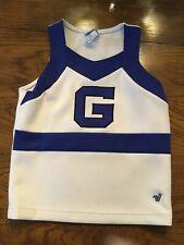 """Girl's Varsity Spirit, Blue & White, Cheerleader Top, """"G,"""" Chest-29"""", Y2Xl+2"""
