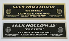Max Holloway UFC nameplate for signed mma gloves photo or case