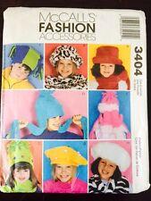 McCalls' Pattern Childrens Hats Scarfs Reversible Mittens 3404