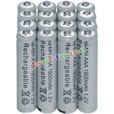 16x AAA Batteries Bulk Nickel Hydride Wiederaufladbare NI-MH 1800mAh 1.2V Gy