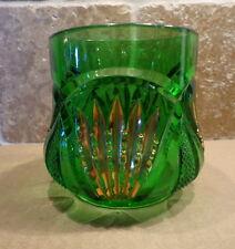 ANTIQUE Heisey Glass Green PINEAPPLE FAN SUGAR Bottom only EAPG Gold