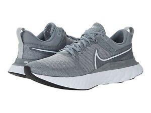 Nike Men's React Infinity Run Flyknit 2 Particle Grey/Grey Fog/Black/White New