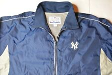 New York Yankees MLB Majestic Authentic Vintage Windbreaker Jacket Navy Size XL