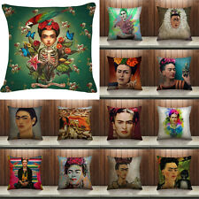 Mexican Painter Frida Kahlo Cotton Linen Pillow Case Cushion Cover Home Decor
