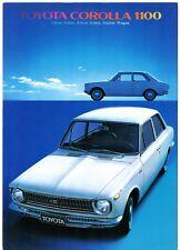 Toyota Corolla 1100 KE10 1968-70 UK Market Foldout Sales Brochure Saloon Estate