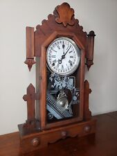 Antique Victorian Decorative Kitchen or Mantle Clock