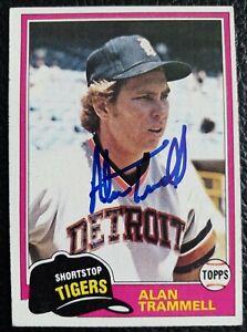 ALAN TRAMMELL 1981 Topps #709 Signed Great Autographed Detroit Tigers HOF Legend