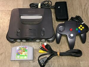 Nintendo 64 Console System w/ Mario 64 N64 Complete Works Great Condition OEM