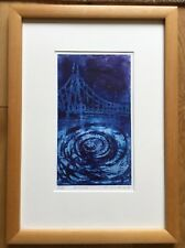 Modern Contemporary Artist Proof Abstract Print Titled Bridge Signed P Gabriel