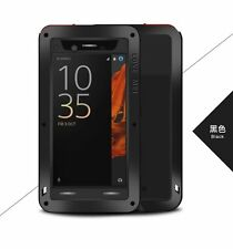 LOVE MEI Metal Shockproof Waterproof Glass Power Case Cover For Sony Xperia XZ