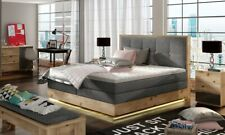 Box Spring Bed Hotel Bed Solid Wood Lighting Luxusbett Complete Bed Valentino