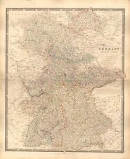 1844 large antique map-Johnston-Allemagne, les états occidentaux