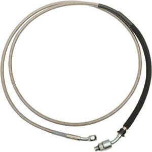Drag Stainless Braided Extended Plus +12 Hydraulic Clutch Line Cable CVO & 14-16
